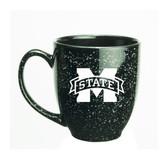 Mississippi State Bulldogs 15 oz. Deep Etched Black Bistro Mug