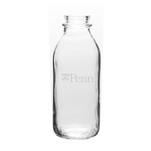 Penn Quakers 33.5 oz. Deep Etched Milk Bottle