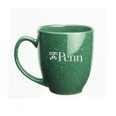 Penn Quakers 15 oz. Deep Etched Green Bistro Mug