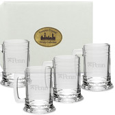 Penn Quakers Deep Etched Colonial Tankard Set of 4