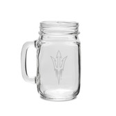 Arizona State Sun Devils 16 oz. Deep Etched Old Fashion Drinking Jar with Handle