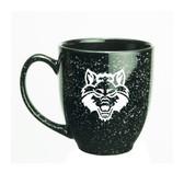 Arkansas State Red Wolves 15 oz. Deep Etched Black Bistro Mug