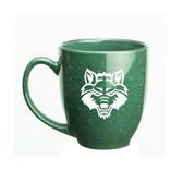 Arkansas State Red Wolves 15 oz. Deep Etched Green Bistro Mug