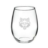 Arkansas State Red Wolves 15.0 oz. Deep Etched Stemless Deep Etched Red Wine Glass