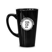 Cal State Fullerton 16 oz. Deep Etched Black Java Mug