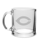 Chicago Maroons 13 oz. Deep Etched Clear Glass Coffee Mug