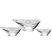 Chicago Maroons Set of 3 Deep Etched Party Bowls
