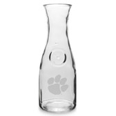 Clemson Tigers 1 Litre Deep Etched Wine Carafe
