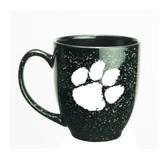 Clemson Tigers 15 oz. Deep Etched Black Bistro Mug