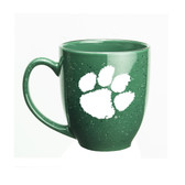 Clemson Tigers 15 oz. Deep Etched Green Bistro Mug