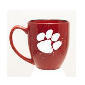 Clemson Tigers 15 oz. Deep Etched Red Bistro Mug