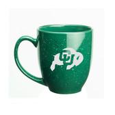 Colorado Buffaloes 15 oz. Deep Etched Green Bistro Mug
