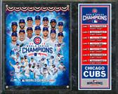 Chicago Cubs 2016 World Series Champions Composite Plaque