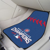 """Chicago Cubs 2016 World Series Champions 2-piece Carpeted Cat Mats 18""""x27"""""""