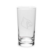 Louisville Cardinals 10 oz. Deep Etched Highball Glass