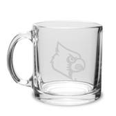Louisville Cardinals 13 oz. Deep Etched Clear Glass Coffee Mug