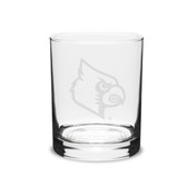 Louisville Cardinals 14 oz. Deep Etched Double Old Fashion Glass