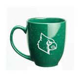 Louisville Cardinals 15 oz. Deep Etched Green Bistro Mug