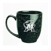 Maryland Terrapins 15 oz. Deep Etched Black Bistro Mug