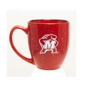 Maryland Terrapins 15 oz. Deep Etched Red Bistro Mug