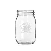 Maryland Terrapins 16 oz. Deep Etched Old Fashion Drinking Jar