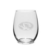 Missouri Tigers 1/2 Litre Deep Etched Wine Carafe