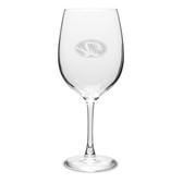 Missouri Tigers 10 oz. Deep Etched Martini Glass
