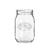 Missouri Tigers 16 oz. Deep Etched Old Fashion Drinking Jar