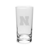 Nebraska Cornhuskers 10 oz. Deep Etched Highball Glass