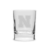 Nebraska Cornhuskers 11.75 oz. Deep Etched Double Old Fashion Glass