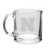 Nebraska Cornhuskers 13 oz. Deep Etched Clear Glass Coffee Mug