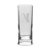 Northeastern Huskies 13.5 oz. Deep Etched Square Round Double Old Fashion Glass