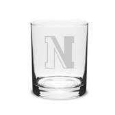 Northeastern Huskies 14 oz. Deep Etched Double Old Fashion Glass