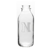 Northeastern Huskies 33.5 oz. Deep Etched Milk Bottle
