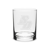 San Diego Tritons 14 oz. Deep Etched Double Old Fashion Glass