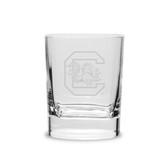 South Carolina Gamecocks 11.75 oz. Deep Etched Double Old Fashion Glass