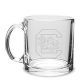 South Carolina Gamecocks 13 oz. Deep Etched Clear Glass Coffee Mug
