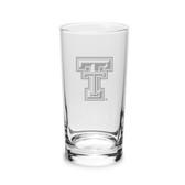 Texas Tech Red Raiders 10 oz Deep Etched Highball Glass
