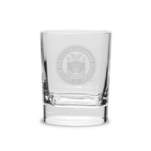 Coast Guard Academy 11.75 oz Deep Etched Double Old Fashion Glass