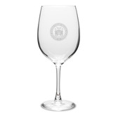 Coast Guard Academy 19 oz Deep Etched Red Wine Goblet