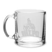 Valparaiso Crusaders 13 oz Deep Etched Clear Glass Coffee Mug