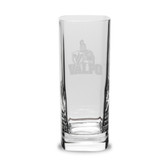 Valparaiso Crusaders 13.5 oz Deep Etched Square Round Double Old Fashion Glass