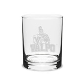 Valparaiso Crusaders 14 oz Deep Etched Double Old Fashion Glass