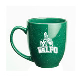 Valparaiso Crusaders 15 oz Deep Etched Green Bistro Mug