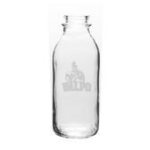 Valparaiso Crusaders 33.5 oz Deep Etched Milk Bottle
