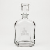 Valparaiso Crusaders Deep Etched Whiskey Decanter