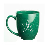 Vanderbilt Commodores 15 oz Deep Etched Green Bistro Mug