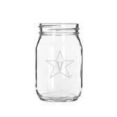 Vanderbilt Commodores 16 oz Deep Etched Old Fashion Drinking Jar