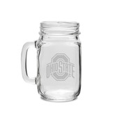 Ohio State Buckeyes 16 oz. Old Fashion Drinking Jar with Handle