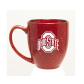 Ohio State Buckeyes 15 oz. Deep Etched Red Bistro Mug